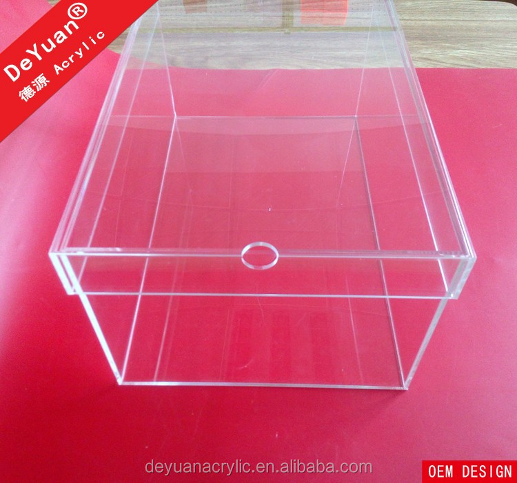 Acrylic Shoe Box Transparent Plastic Box With Lid