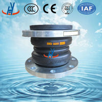 Flanged end rubber expansion joint