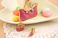 fashion dance shoe pendant handbag keychain