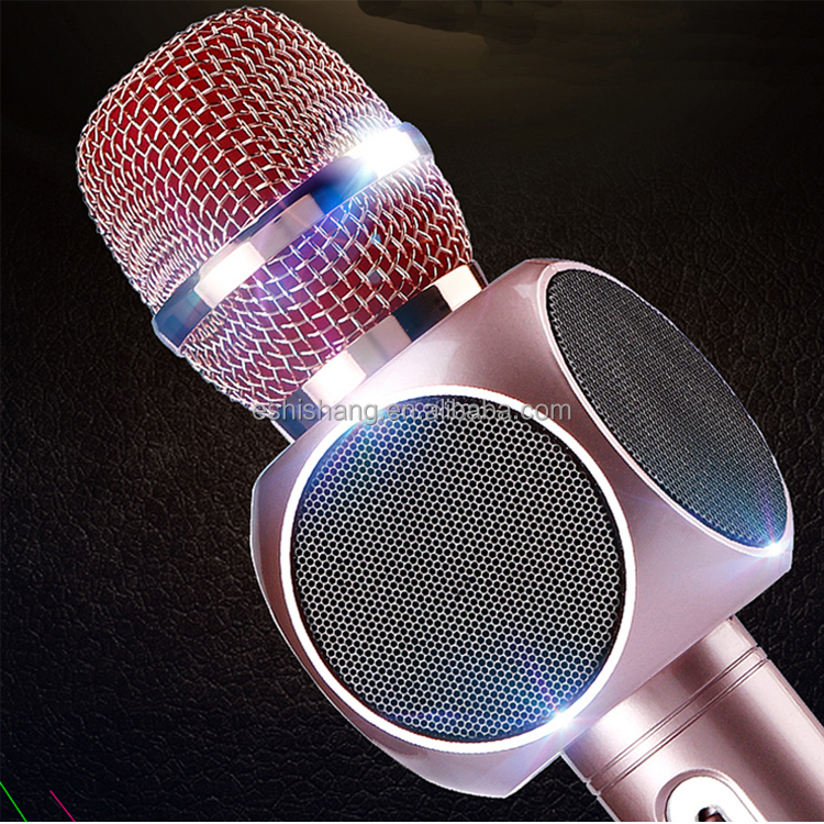portable wireless handheld bluetooth microphone karaoke for android singing recording all-in-one