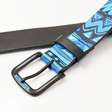 printed leather military belt for army