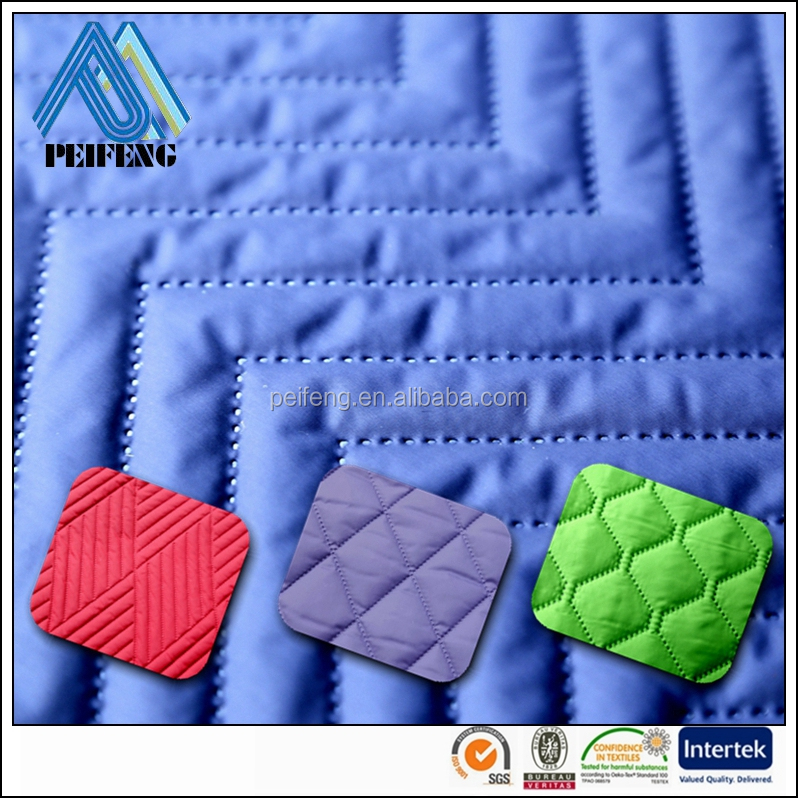 PTPF1300 wholesale 100% polyester direct quilted <strong>fabric</strong> polyester quilted <strong>fabric</strong> padded <strong>fabric</strong>