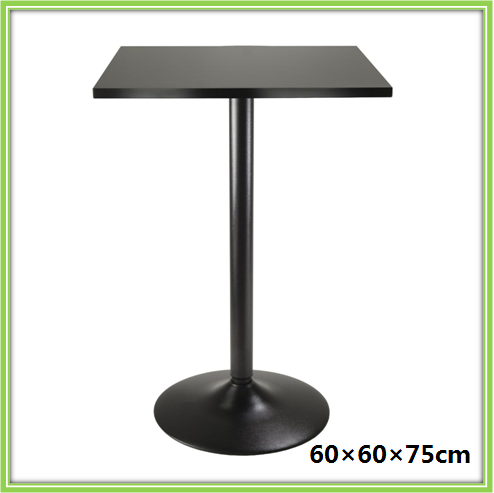 Modern New Design Square Wood Top Metal Frame Dining Table For Sale