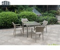 Factory Direct Sale Space Saving Stackable Restaurant Outdoor Furniture Rattan Dinning Set