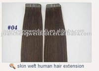 2012 new style Popualr AAA+ grade #4 skin weft seamless hair extensions