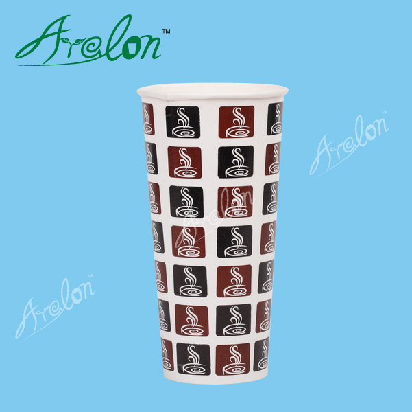 Single wall double PE cold drink paper cup