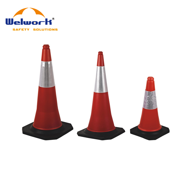 PVC Reflective Tape Variability High Quality Rubber Safety Road Traffic Cone