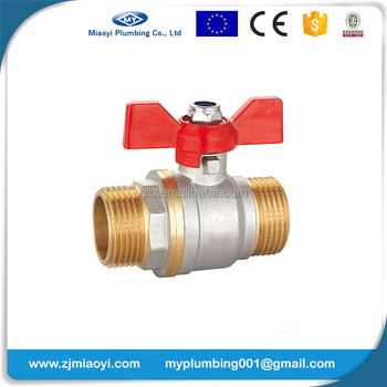 Brass Ball Valves with Aluminium butterfly handle