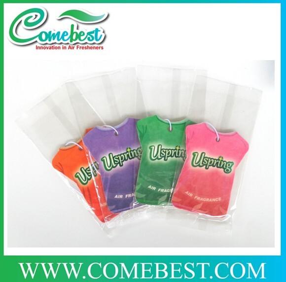 Unique Scent paper card air freshener / fragrant paper hanging label