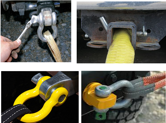 Tow Shackle HItch Using for Towing Strap