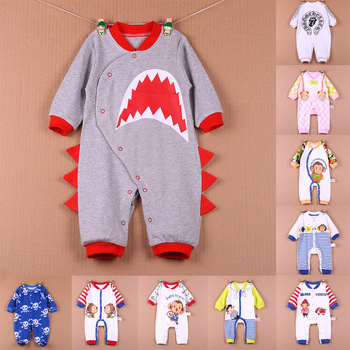 spring & Autumn 3D animal baby romper jumpsuit