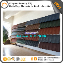 3. New design Sangobuild colorful sand coated roof tile steel price/natural stone tiles/building materials Huangzhou