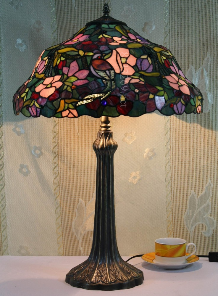 special animal design for 20inch wide tiffany style table lamp