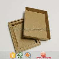 Natural brown package recycled 3ply flute corrugated ripple paper carton box
