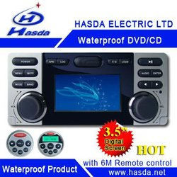 Waterproof dvd player in automotive for boat,car,bathroom,golf cart,yacht