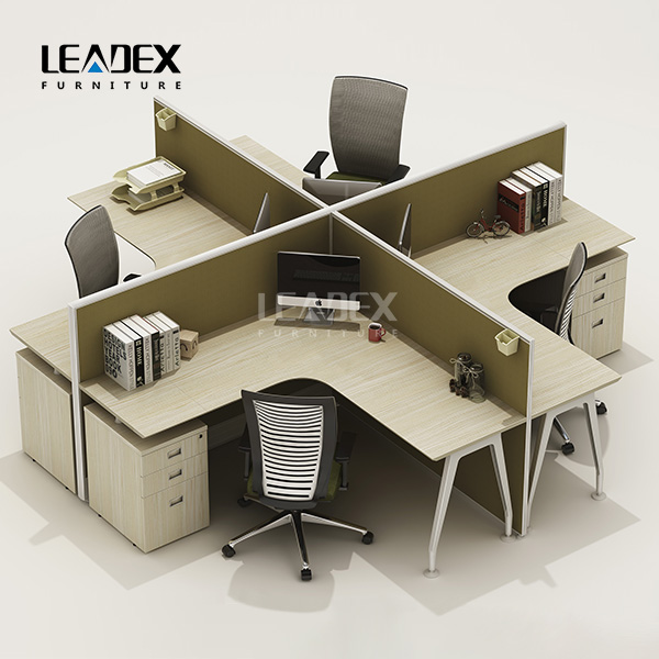 2016 new arrival clover shape office tables and chairs set workstation furniture