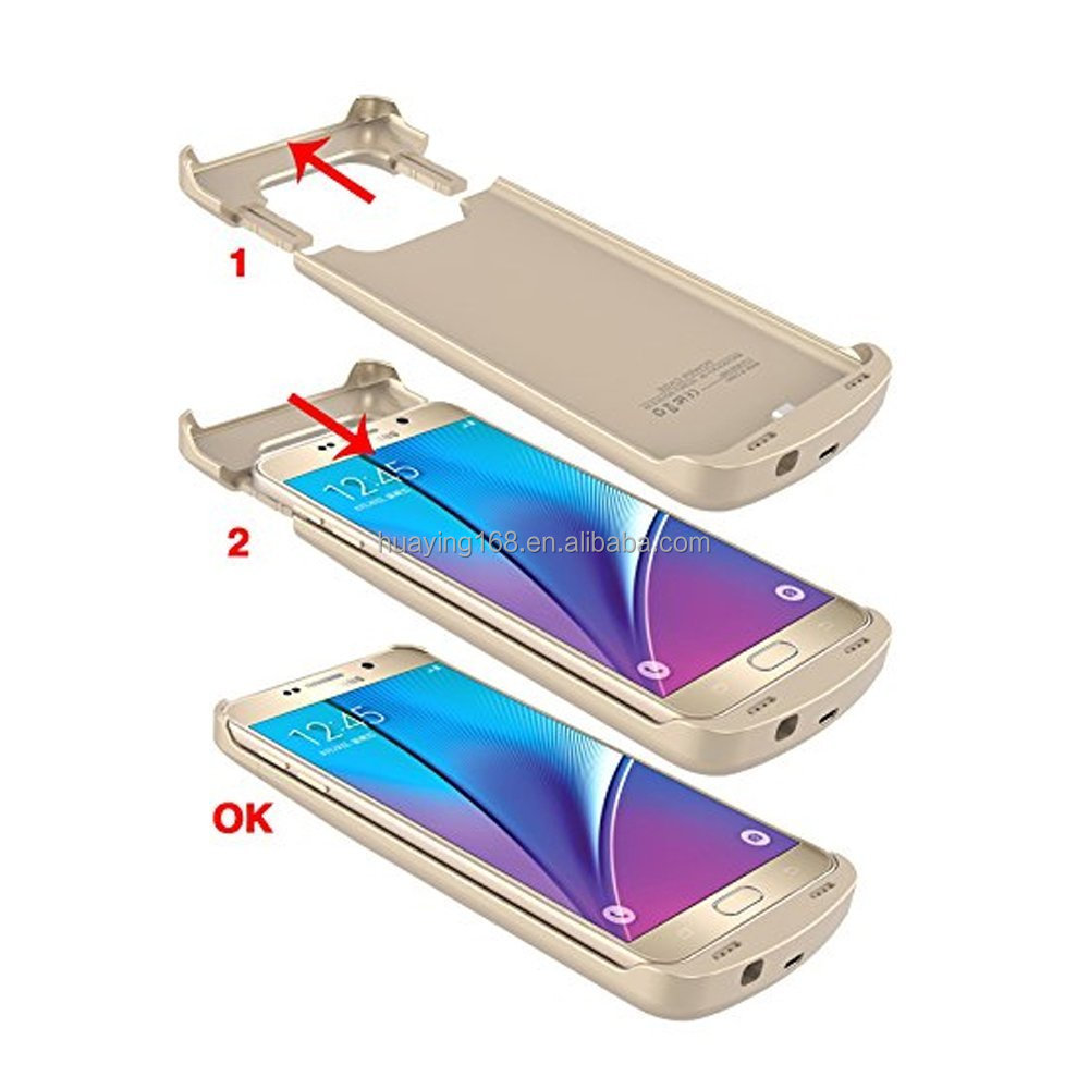 4200mAh Extended Rechargeable High Capacity Battery Case for Samsung Galaxy S6(GOLD)