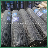 Black color Plastic coated Hexagonal wire netting/ Chicken wire netting/ Chicken nets fishing net