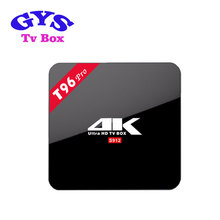 Wholesale Android 6.0 ultra H-D 4K Tv box Amlogic S912 T96 pro 3G 16G Tv receiver B-T Wifi AC set top box