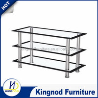 metal chrome and glass simple fashionable and luxury lcd led stainless steel tv stand