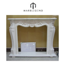 lobby used marble fireplace mantel parts