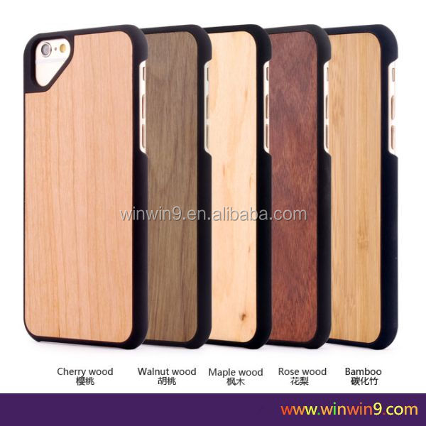 shockproof Wood + TPU bamboo wood tablet case For iPhone 6 plus