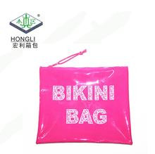 Wholesale Waterproof Printed Logo Pvc Plastic Zipper Wet Bikini Bag