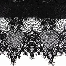 2018 New Hot Black and Red African Cord Lace Fabric Guipure Flower Fabric