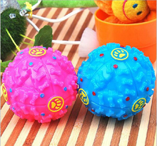 Vinyl dog toy pet ball with bone squeaky ball for dog