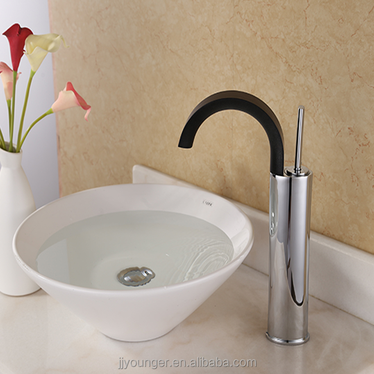 brass body black bathroom faucet parts water tap parts tap handle