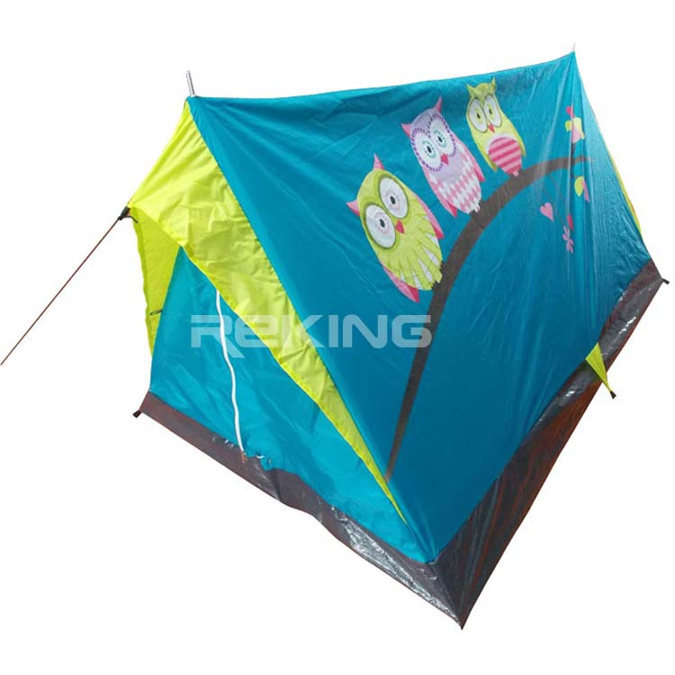 blue triangle kid play tent