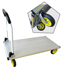 Cheap foldable platform push hand truck trolley