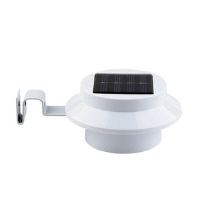 4 LED Circular Sensor Motion Roof Gutter Solar lights Sensor Solar Light for Wall Path Garden Solar Lamp