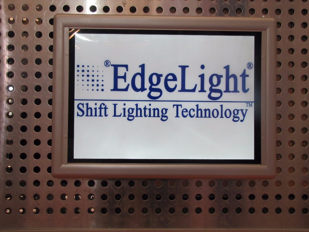 Edgelight PF2 Shop Signage advertising display plastic poster slim led frame for decoration
