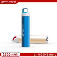 2017 innovative product 2200/2600mah keychain hook power bank metal quick charging advertising portable charger