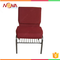Good quality wholesale modern stacking padded cheap metal church chairs stackable