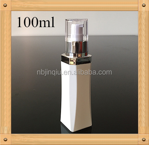 China supplier plastic square cream bottle used for cosmetic