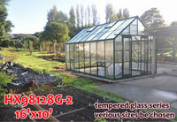 Aluminium greenhouse tempered glass sun rooms