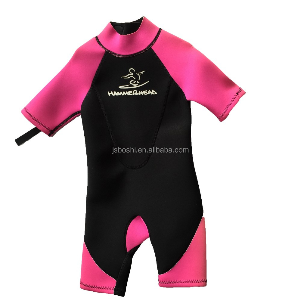 Shorty sex neoprene scuba diving smooth skin wetsuit for girls