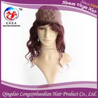"Top Grade Brazilian Human Hair 16"" Machine Made Wig Red Hair, 100 Percent Human Hair Wigs Wholesale Price"