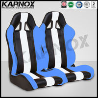 white and blue micro-fiber leather custom racing seats for cars,reclining racing sport car seat