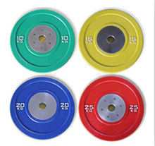 Barbell plates type olimpic solid rubber bumper weight plate chequered plate weight