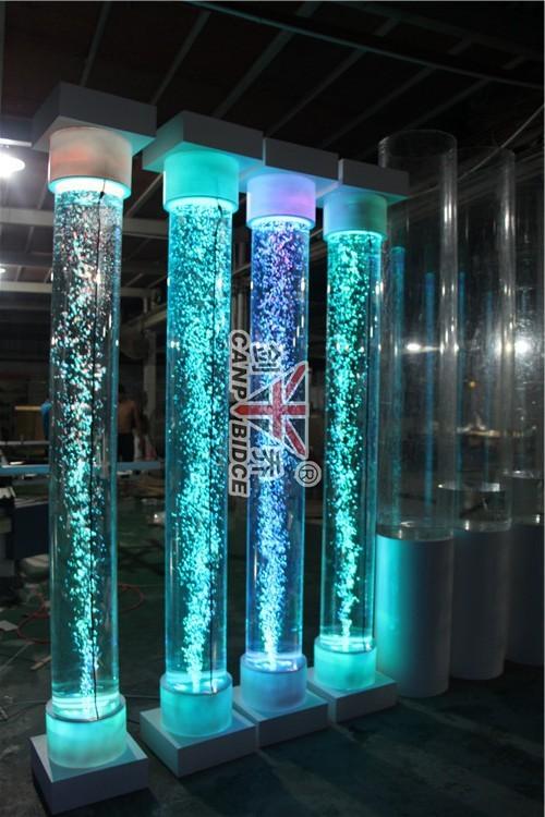 Aquarium fish water bubble tube rgb led white floor lamps for Tube fish tank