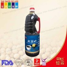 High quality 1.8L bottled Brewed GMO free china lily soy sauce with OEM brands