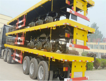 Factory designed and produced 40ft flatbed container semi-trailer