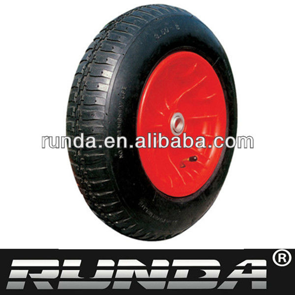 solid rubber wheel with plastic hub
