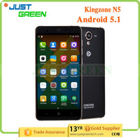 China cell phone Kingzone 5 inch phone 4G LTE Android 5.1 phone MT6735 quad cores 2GB 16GB download free mobile games