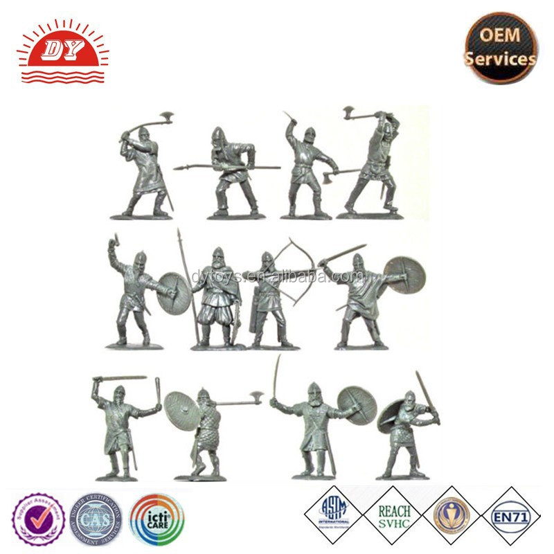 ICTI certificated make custom plastic toys soldiers warriors 12 figures