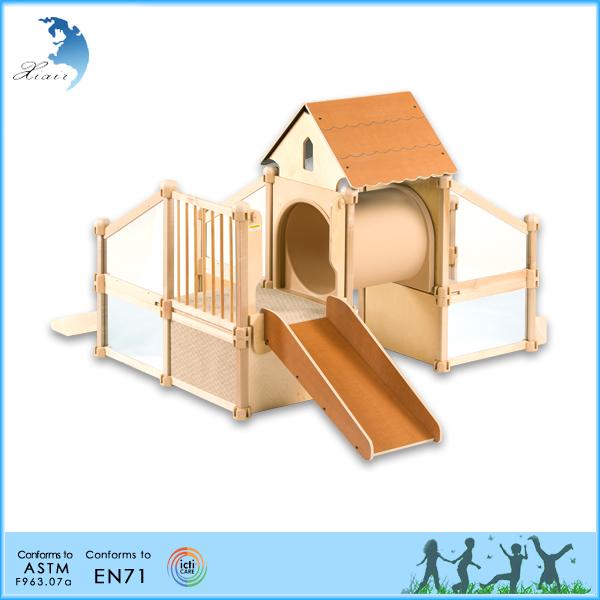 Children wooden kids used montessori games indoor for Indoor play structure prices