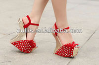 2013 new design beautiful high heel shoes china lady shoes PJ2272